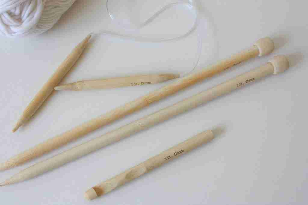 straight and circular bamboo knitting needles