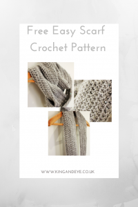 Easy scarf beginner crochet pattern