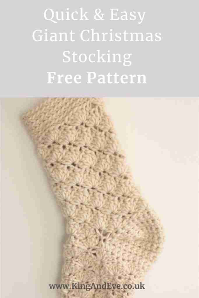 Giant chunky christmas stocking free crochet pattern
