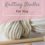 knitting needles and merino yarn