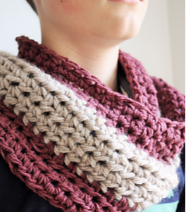 two colour unisex cowl crochet pattern