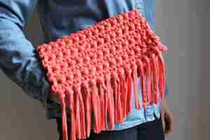 boho style beginners crochet purse pattern