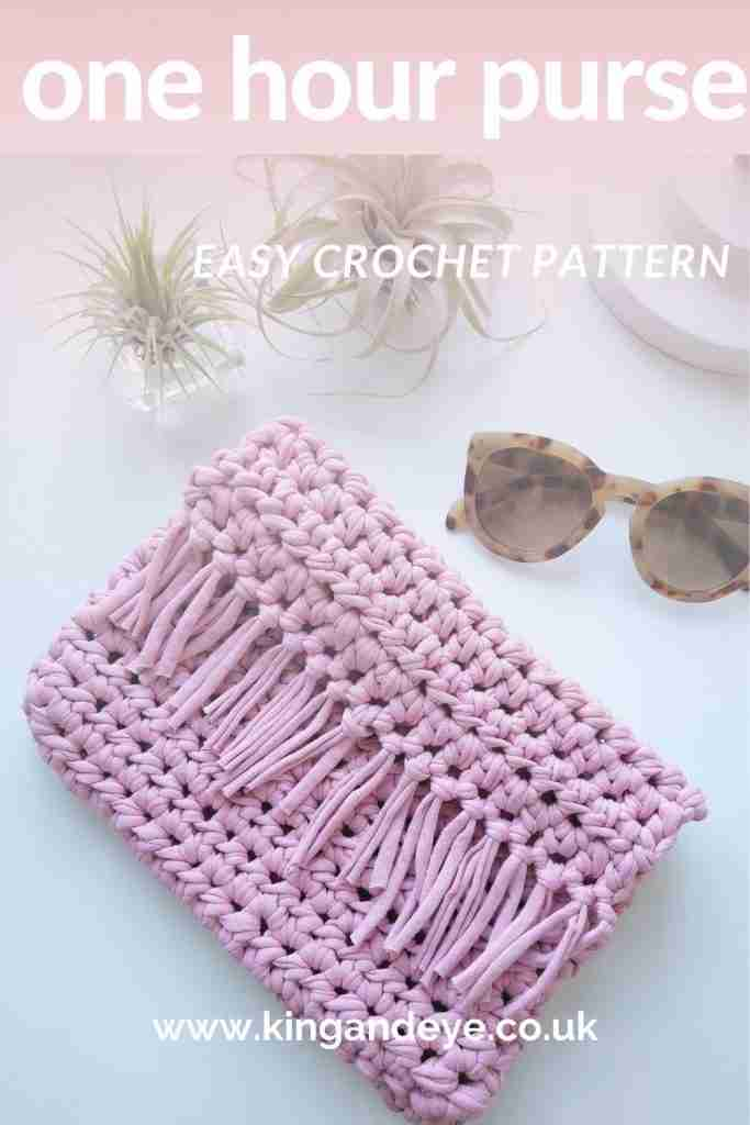 Easy Beginners One Hour Crochet Purse