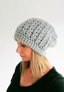 Slouchy hipster hat crochet pattern